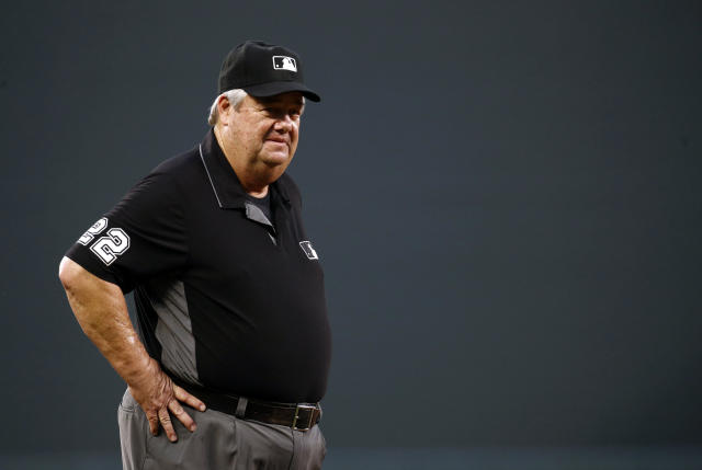 Joe West was blasted by White Sox shortstop Tim Anderson. (AP Photo/Patrick Semansky)