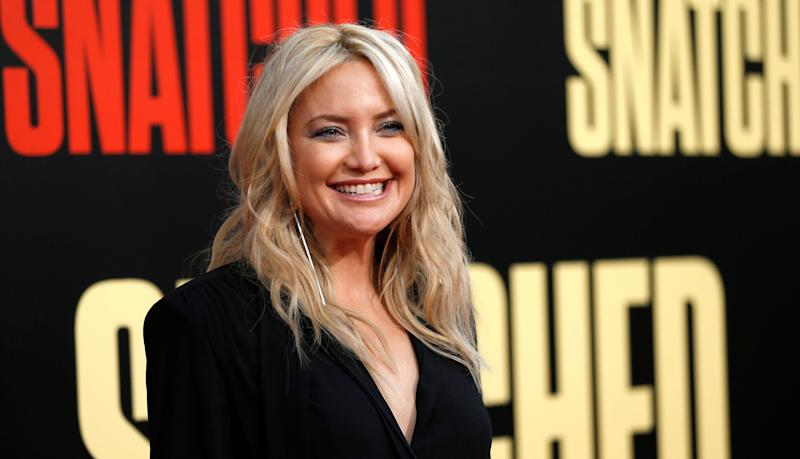 "Kate Hudson's response to a question about ""the laziest thing"" she's ever done has caused controversy.  (Mario Anzuoni / Reuters)"