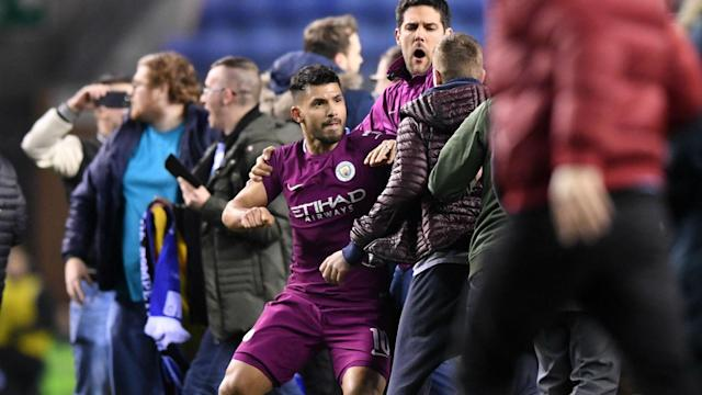 Will Grigg created an unforgettable FA Cup moment by sinking Manchester City, but troubling scenes followed Wigan Athletic's 1-0 win.