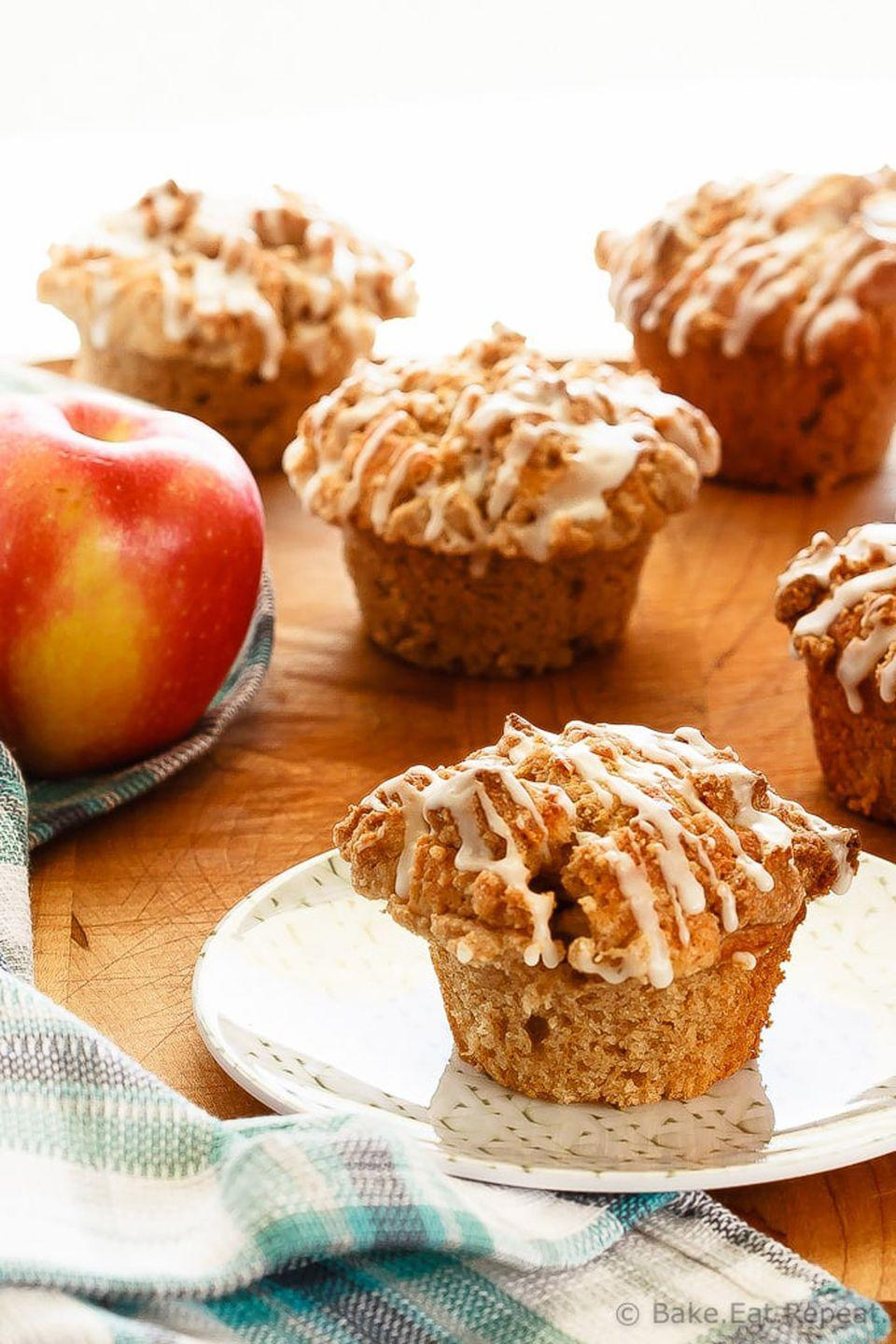 "<p>Be generous with the brown sugar crumble and sweet glaze; it's the best part of these muffins.</p><p><strong>Get the tutorial at <a href=""https://bake-eat-repeat.com/apple-muffins-crumb-topping-recipe/"" rel=""nofollow noopener"" target=""_blank"" data-ylk=""slk:Bake. Eat. Repeat"" class=""link rapid-noclick-resp"">Bake. Eat. Repeat</a>.</strong><br></p><p><a class=""link rapid-noclick-resp"" href=""https://www.amazon.com/dp/B07HYRB4P2?tag=syn-yahoo-20&ascsubtag=%5Bartid%7C10050.g.650%5Bsrc%7Cyahoo-us"" rel=""nofollow noopener"" target=""_blank"" data-ylk=""slk:SHOP MUFFIN PANS"">SHOP MUFFIN PANS</a><br></p>"