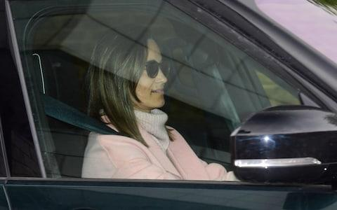 Pippa Middleton pictured leaving Kensington Palace on Tuesday afternoon - Credit: Paul Grover for The Telegraph