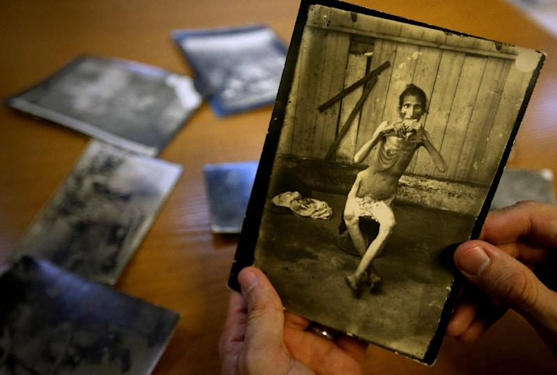 Photos by Ibrahim Naoum Kanaan document the famine that hit Lebanon between 1915 and 1918, in the midst of World War I (AFP Photo/Joseph Eid)