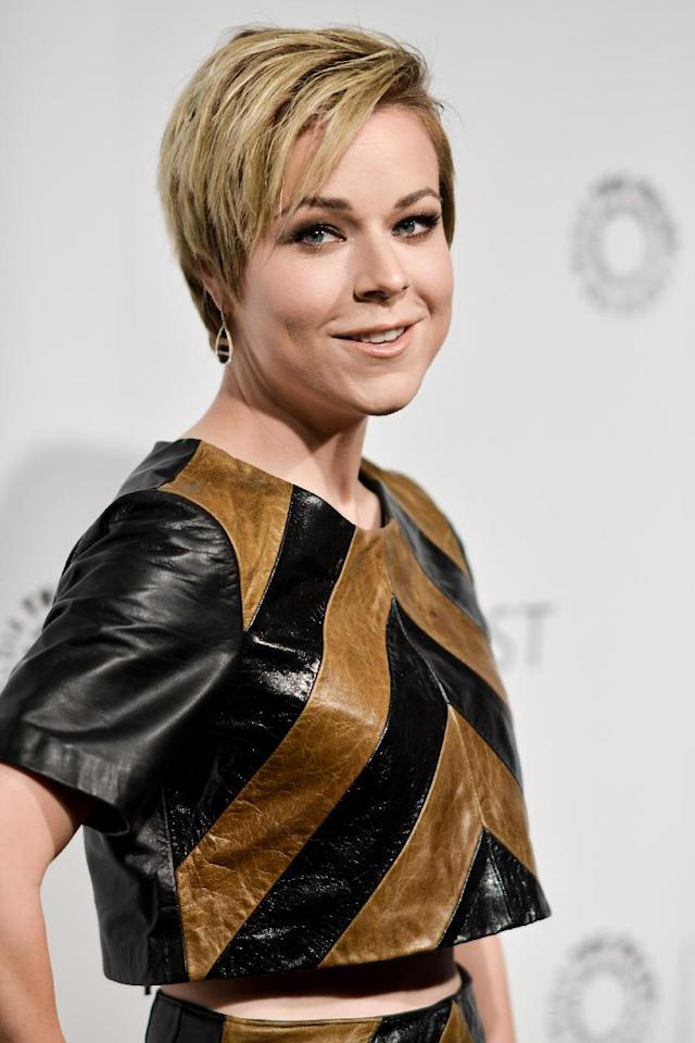 """Tina Majorino arrives at PALEYFEST 2014 - """"Veronica Mars"""" Reunion on Thursday, March 13, 2014, in Los Angeles. (Photo by Richard Shotwell/Invision/AP)"""