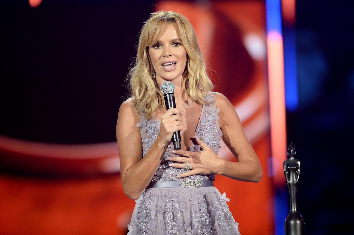 LONDON, ENGLAND - JUNE 13:  Amanda Holden presents the PPL Classic BRITs Breakthrough Artist of the Year award during the 2018 Classic BRIT Awards held at Royal Albert Hall on June 13, 2018 in London, England.  (Photo by Dave J Hogan/Dave J Hogan/Getty Images)