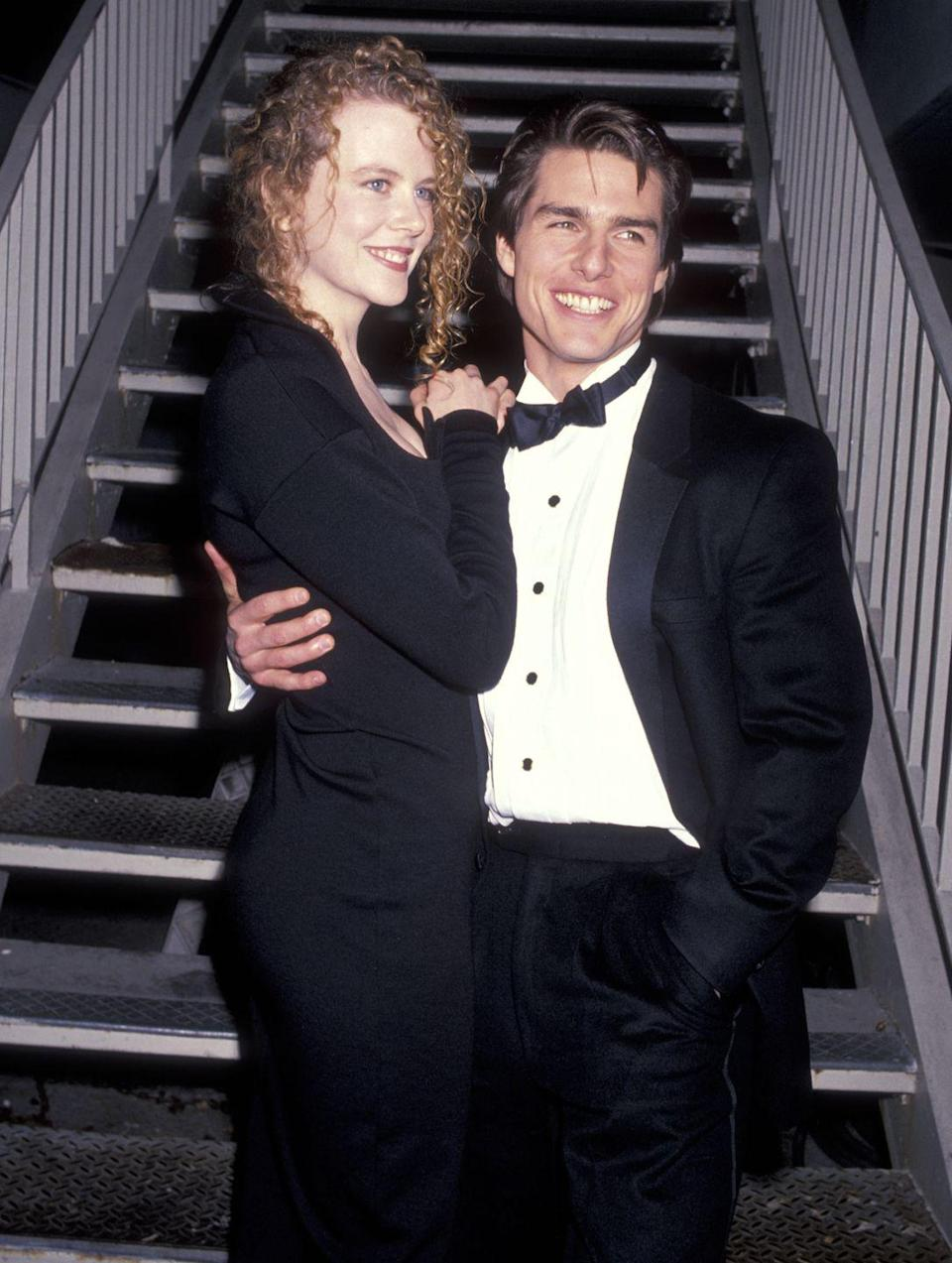 """<p>Kidman was married to Cruise in the '90s. Despite going their separate ways in 2001, Kidman told <em>Ladies' Home Journal</em> in 2006 (according to <em><a href=""""https://www.chicagotribune.com/news/ct-xpm-2006-05-09-0605090022-story.html"""" rel=""""nofollow noopener"""" target=""""_blank"""" data-ylk=""""slk:Chicago Tribune"""" class=""""link rapid-noclick-resp"""">Chicago Tribune</a></em>), """"...he was lovely to me and I loved him. I still love him.""""</p>"""