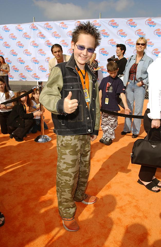 Jake Thomas arrives at the NIKELODEON 15th ANNUAL KIDS CHOICE AWARDS at Barker Hanger in Santa Monica, CA, Saturday, April 20, 2002.    2002IMAGEDIRECT  CR:Frank Micelotta/ImageDirect