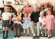 <p>Charlotte had one hand given over to looking out for her brother Louis in this family snap, but made sure to give a wave to the camera with the other in Balmoral in 2018. (Duchess of Cambridge)</p>