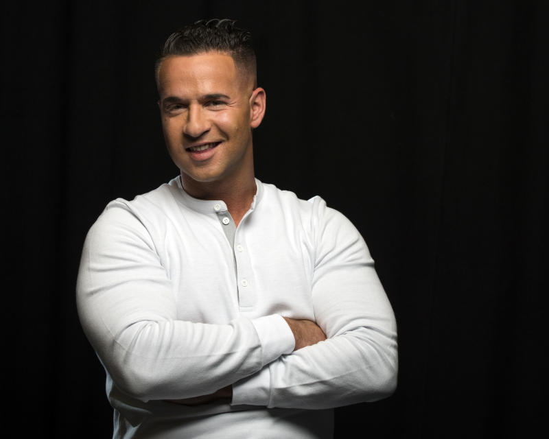 """Reality television star from the MTV Series """"Jersey Shore,"""" Mike """"The Situation"""" Sorrentino poses for a portrait, on Monday, Sept. 9, 2013 in New York. (Photo by Drew Gurian/Invision/AP)"""