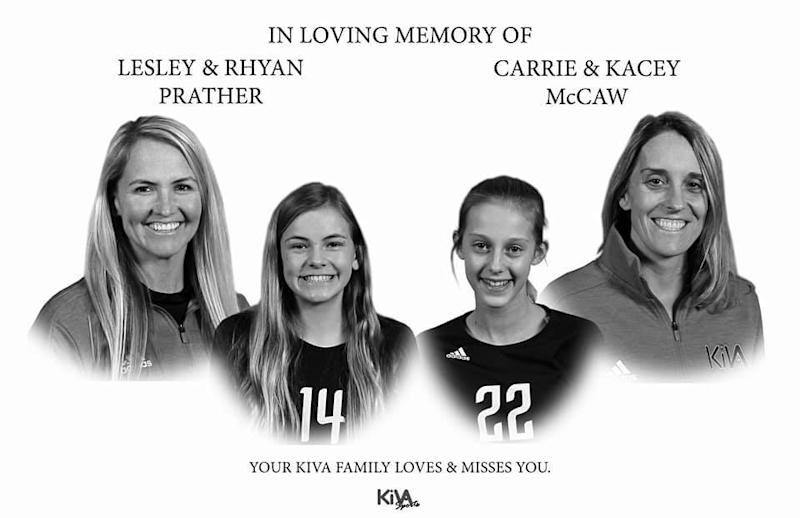 Carrie McCaw, her daughter Kacey and Lesley Prather and her daughter Rhyan were mourned in posts to social media. Source: Facebook/Assumption High School