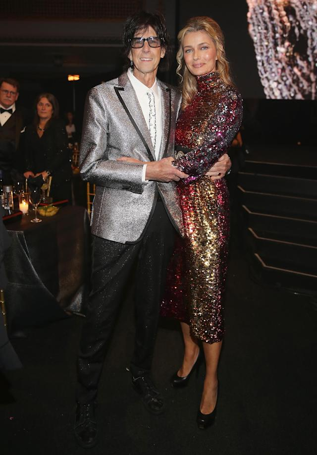 Ocasek and Porizkova at the 33rd Annual Rock & Roll Hall of Fame Induction Ceremony, April 14, 2018, in Cleveland, Ohio. (Photo: by Kevin Kane/Getty Images for the Rock and Roll Hall of Fame)