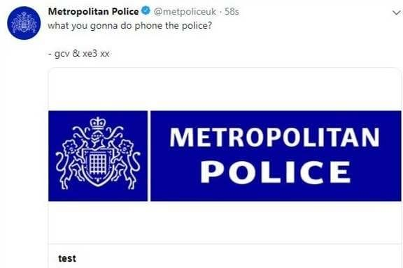 Metropolitan Police Twitter account 'hacked by pranksters' in late-night attack