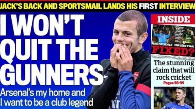 Premier League - Paper Round: Wilshere going nowhere
