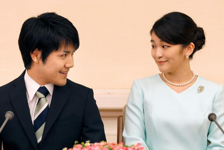 The pair first announced their planned engagement in September 2017 (AFP/Shizuo Kambayashi)