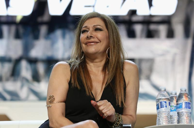 Marina Sirtis at the 2018 Star Trek Convention in Las Vegas. (Photo: Getty Images)