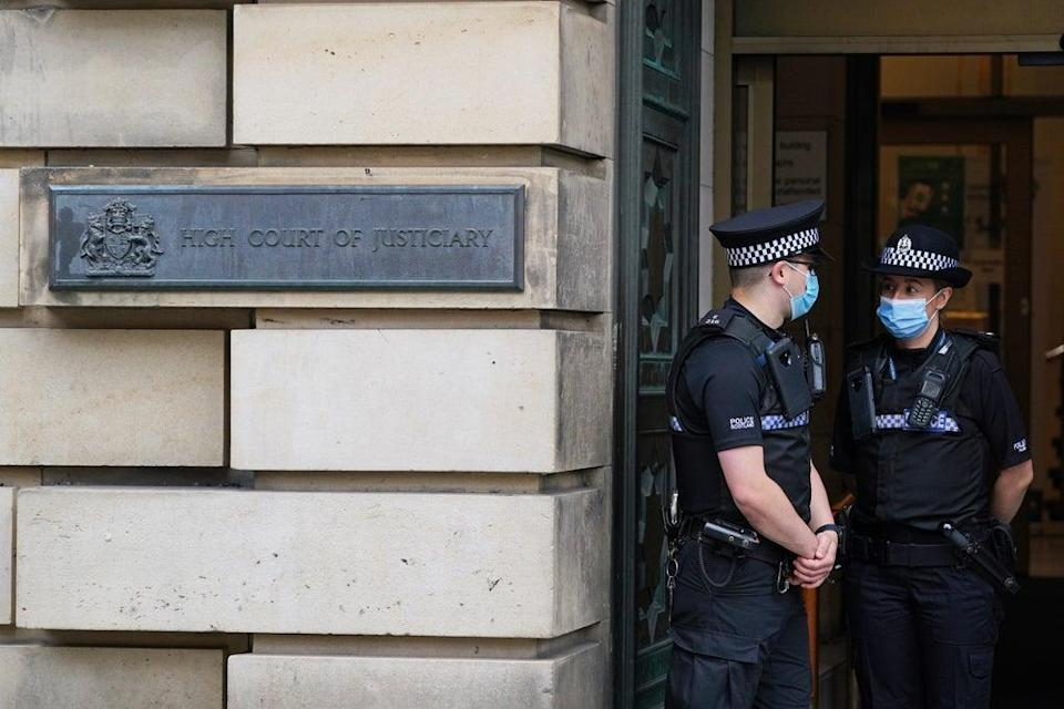 Sam Imrie is on trial at the High Court in Edinburgh (Andrew Milligan/PA) (PA Wire)