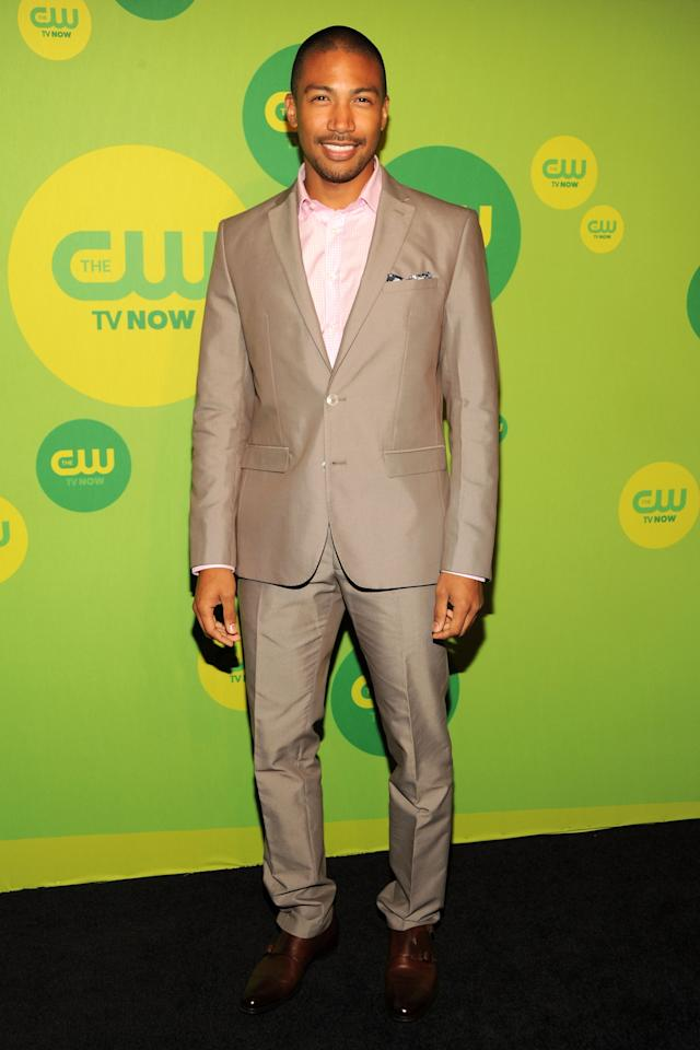 NEW YORK, NY - MAY 16:  Actor Charles Michael Davis attends The CW Network's New York 2013 Upfront Presentation at The London Hotel on May 16, 2013 in New York City.  (Photo by Ben Gabbe/Getty Images)