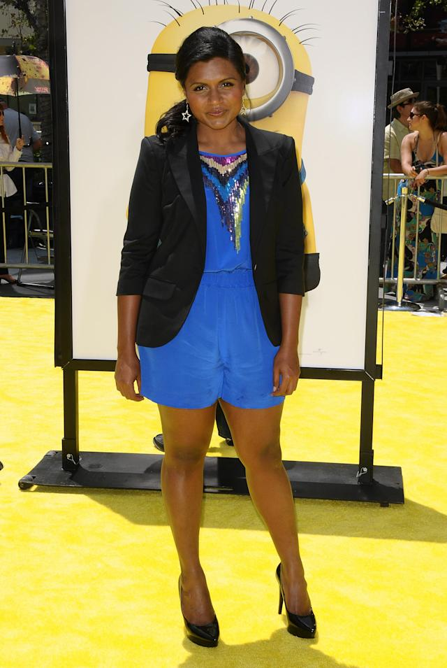 """LOS ANGELES, CA - JUNE 27: Actress Mindy Kaling attends the premiere of """"Despicable Me"""" at Nokia Theatre L.A. Live on June 27, 2010 in Los Angeles, California. (Photo by Jason LaVeris/FilmMagic)"""