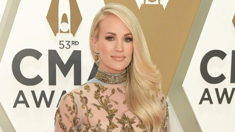 Carrie Underwood Stuns in Gold at 2019 CMA Awards -- See the Gorgeous Look!