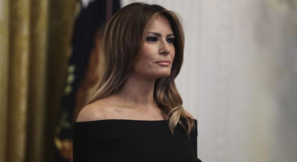 """The White House has released a """"strange"""" picture of Melania Trump on her birthday on Twitter. [Photo: Getty]"""