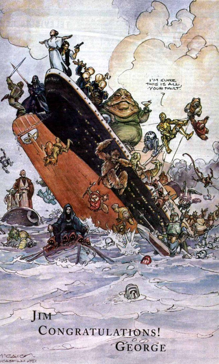 George Lucas's 1998 tribute to 'Titanic' (credit: Variety)
