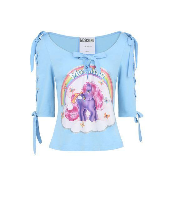 Moschino's Spring 2018 collection includes My Little Pony clothing like this shirt, which retails for nearly $400. (Photo: Moschino)