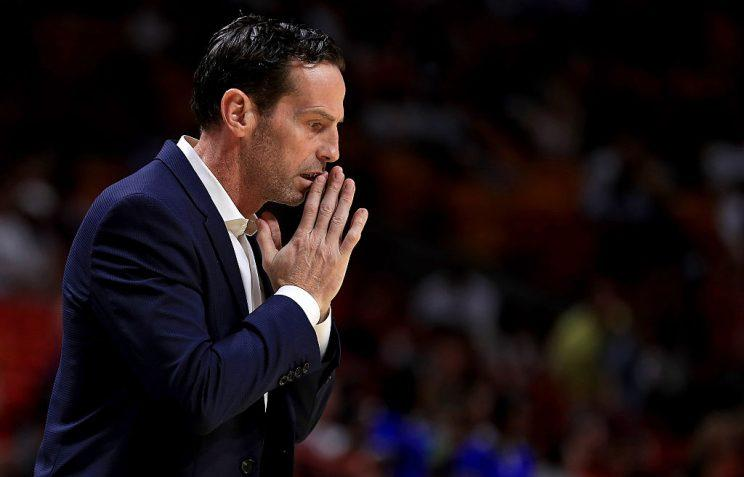 And you thought the Brooklyn Nets didn't have a prayer under new coach Kenny Atkinson. (Getty Images)
