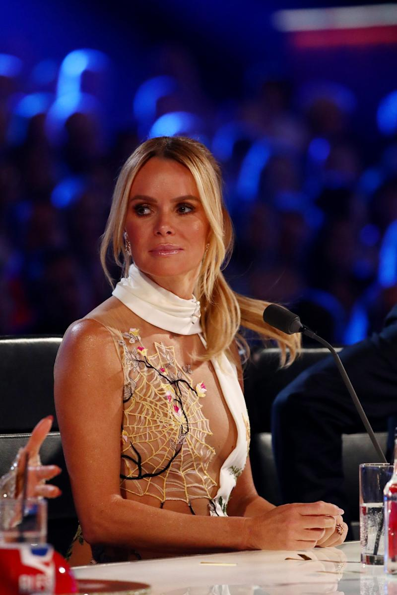 Amanda Holden's Britain's Got Talent dress on Wednesday attracted Ofcom complaints (Photo: Rex/Shutterstock/ITV/Syco)