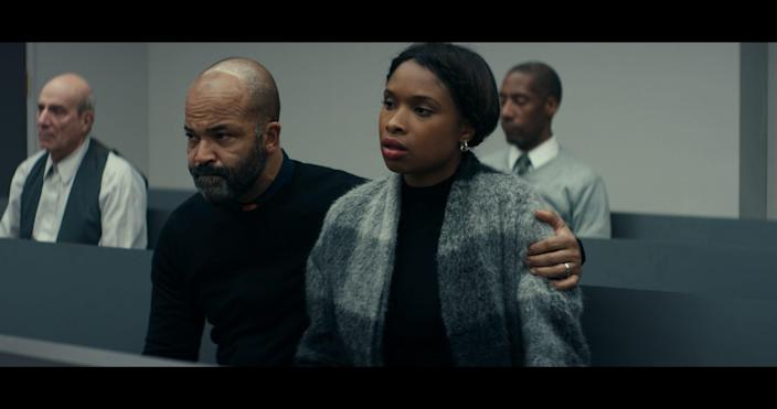 """Jeffrey Wright, left, and Jennifer Hudson play the parents of a Black high schooler who's accused of being an accessory to murder in Netflix's legal drama """"Monster."""""""