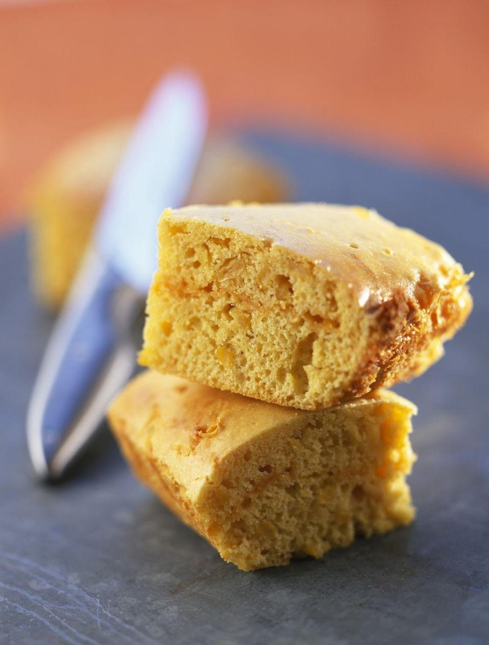 """<p>The wet and dry ingredients for this uber-quick bread can actually be mixed together in the same dish you'll use for the microwave. While you might not get the same crispy burnt edges as you'd get in a traditional oven, this cornbread is a fast dinner alongside <a href=""""https://www.goodhousekeeping.com/food-products/g32613278/best-canned-soups/"""" rel=""""nofollow noopener"""" target=""""_blank"""" data-ylk=""""slk:your favorite canned or bottled soup"""" class=""""link rapid-noclick-resp"""">your favorite canned or bottled soup</a> on cooler nights.</p><p><em><a href=""""https://www.womansday.com/food-recipes/a46858/8-minute-microwave-cornbread/"""" rel=""""nofollow noopener"""" target=""""_blank"""" data-ylk=""""slk:Get the recipe from Woman's Day »"""" class=""""link rapid-noclick-resp"""">Get the recipe from Woman's Day »</a></em></p><p><strong>RELATED: </strong><a href=""""https://www.goodhousekeeping.com/food-recipes/g32071475/bread-machine-recipes/"""" rel=""""nofollow noopener"""" target=""""_blank"""" data-ylk=""""slk:25 Best Bread Machines Recipes That Make Home Baking a Breeze"""" class=""""link rapid-noclick-resp"""">25 Best Bread Machines Recipes That Make Home Baking a Breeze</a></p>"""