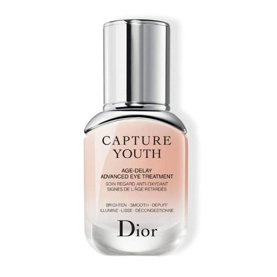 Call it bright eyes in a bottle: Dior's Youth Age-Delay Advanced Eye Treatment features a fast-absorbing gel to address concerns including sagging skin, dark circles, and puffiness.
