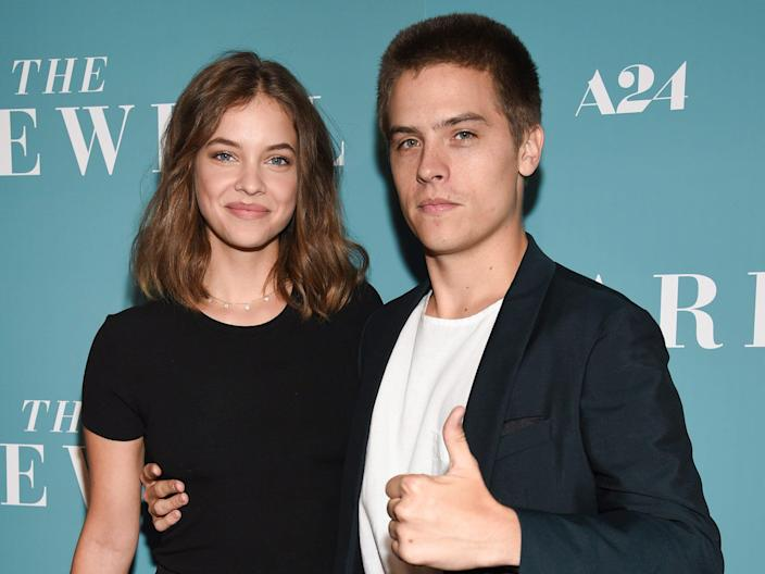 """barbara palvin and dylan sprouse posing on the red carpet for the premiere of """"The Farewell"""" in 2019"""