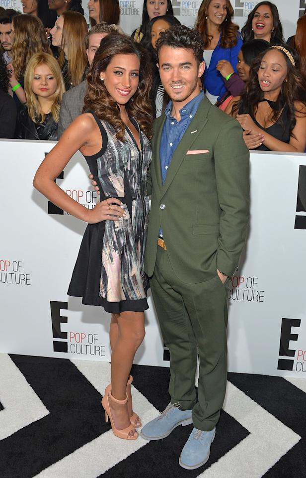 NEW YORK, NY - APRIL 22:  Television personality Danielle Jonas (L) and musician Kevin Jonas  attend the E! 2013 Upfront at The Grand Ballroom at Manhattan Center on April 22, 2013 in New York City.  (Photo by Mike Coppola/Getty Images)