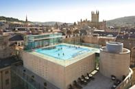 """<p><strong>Current deal: Bath city break with spa access for two at £319</strong></p><p><strong>Check website for up to date opening information. </strong></p><p>Known as Britain's original thermal spa, this offers a classic spa break for those in search of a fun activity with the girls, the perfect treat for Mum or a romantic gift for your other half. It's where you can bathe in the UK's only naturally warm, mineral-rich waters for a unique spa experience. </p><p>At <a href=""""https://go.redirectingat.com?id=127X1599956&url=https%3A%2F%2Fwww.virginexperiencedays.co.uk%2Fone-night-bath-city-break-with-prosecco-afternoon-tea-at-the-5-roseate-villa-and-entrance-to-the-thermae-bath-spa-for-two&sref=https%3A%2F%2Fwww.womenshealthmag.com%2Fuk%2Ffitness%2Ffitness-holidays%2Fg31282174%2Fbest-spas-in-uk%2F"""" rel=""""nofollow noopener"""" target=""""_blank"""" data-ylk=""""slk:Thermae Bath Spa"""" class=""""link rapid-noclick-resp"""">Thermae Bath Spa</a>, you'll want to relax in the indoor Minerva Bath and open-air rooftop pool with its amazing views over the city. Make a luxury night of it with a five-star stay in Bath after a soak in those therapeutic waters. </p><p><a class=""""link rapid-noclick-resp"""" href=""""https://go.redirectingat.com?id=127X1599956&url=https%3A%2F%2Fwww.virginexperiencedays.co.uk%2Fone-night-bath-city-break-with-prosecco-afternoon-tea-at-the-5-roseate-villa-and-entrance-to-the-thermae-bath-spa-for-two&sref=https%3A%2F%2Fwww.womenshealthmag.com%2Fuk%2Ffitness%2Ffitness-holidays%2Fg31282174%2Fbest-spas-in-uk%2F"""" rel=""""nofollow noopener"""" target=""""_blank"""" data-ylk=""""slk:FIND OUT MORE"""">FIND OUT MORE</a></p>"""