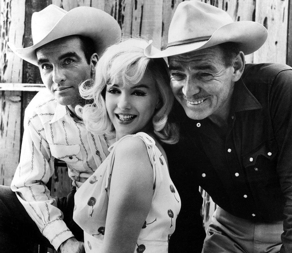 """THE MISFITS  """"It was Marilyn's only opportunity to play a dramatic role. It's a very strange movie. I don't know why I love it as much as I do -- maybe, because the collaboration Clark Gable, Marilyn Monroe, Eli Wallach, and Montgomery Clift seems cosmic, even if it doesn't jive entirely."""""""
