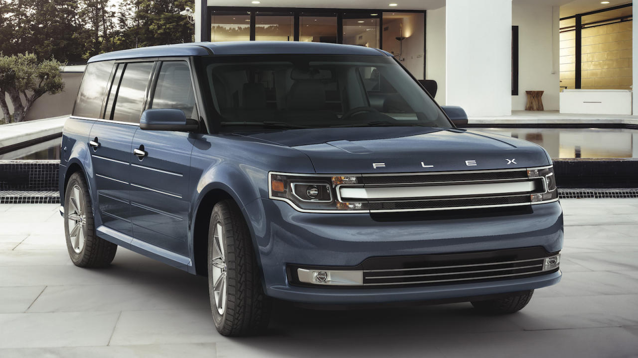 "<p>Given the criteria presented and the fact that the buyer specifically mentioned it as a possibility, no vehicle got more love from the <em>Autoblog</em> staff than the <a href=""https://www.autoblog.com/2019/10/28/ford-flex-discontinued/"">recently discontinued Ford Flex.</a></p> <p>West Coast Editor James Riswick said of the Flex, ""It's ultra practical and seriously cool, which are two things that rarely go together. If you can swing one with the EcoBoost engine that'd be ideal but not necessary. Otherwise, try to find one with the middle captain's chairs — they reduce total seating capacity but also expand third row space.""</p> <p>Riswick added, ""Don't be dissuaded by vehicles with MyFord Touch. It got an unfair rap. I recently used it in an older Escape, and it's more user friendly than many current infotainment systems.""</p> <p>The earned another hearty recommendation from our uniquely qualified contributing editor Joe Lorio. ""As a Ford Flex owner, that is hands-down my first choice, but a lower-mileage example may be more than you want to spend,"" said Lorio, whose backup suggestion appears a little later in this list.</p> <p>Consumer Editor Jeremy Korzeniewski and Managing Editor Greg Rasa also included Ford's boxy crossover among their suggestions. But even with all that support, the Flex wasn't the only family friendly vehicle suggested by our staffers. Click on the image above for more.</p>"