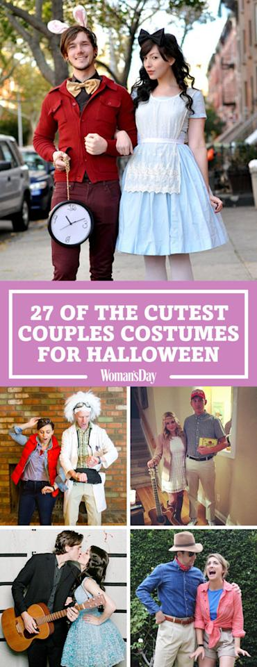 """<p>Save these cute costumes for later by pinning this image! Follow Woman's Day on <a rel=""""nofollow"""" href=""""https://www.pinterest.com/womansday/"""">Pinterest</a> for more great Halloween ideas.</p>"""