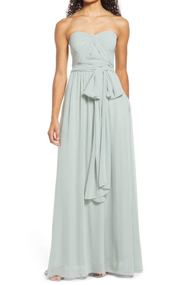 """<p><strong>BIRDY GREY</strong></p><p>nordstrom.com</p><p><strong>$99.00</strong></p><p><a href=""""https://go.redirectingat.com?id=74968X1596630&url=https%3A%2F%2Fwww.nordstrom.com%2Fs%2Fbirdy-grey-grace-convertible-gown%2F6439707&sref=https%3A%2F%2Fwww.townandcountrymag.com%2Fstyle%2Ffashion-trends%2Fg12096491%2Fbest-fall-wedding-guest-dresses%2F"""" rel=""""nofollow noopener"""" target=""""_blank"""" data-ylk=""""slk:Shop Now"""" class=""""link rapid-noclick-resp"""">Shop Now</a></p><p>the sheer ties of this gauzy gown can be tied multiple different ways, so it's like many dresses in one. </p>"""