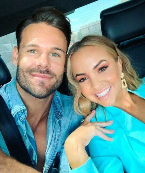Angie Kent and Carlin pose in selfie before split rumours
