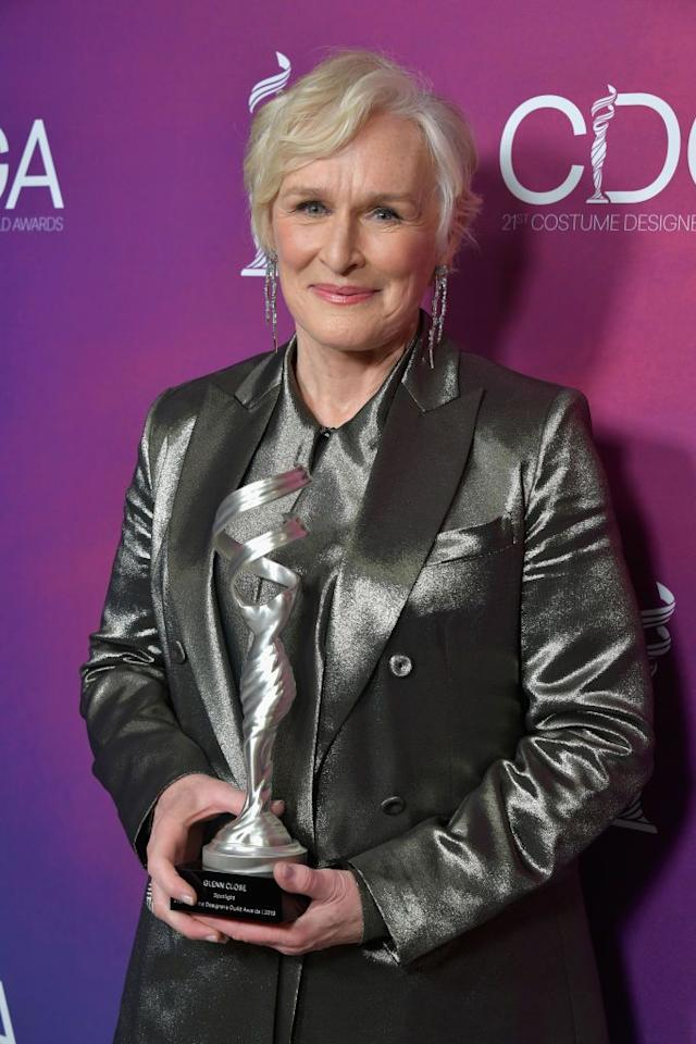 <p>Leading up to the 2019 Oscars, Close received a nomination for Best Actress for her role in <em>The Wife</em>, and considering her winning streak through this year's other awards shows, many believe she'll win big. That would be her first Oscar, despite being nominated seven times and holding the title for the most nominated living person without a win. </p>