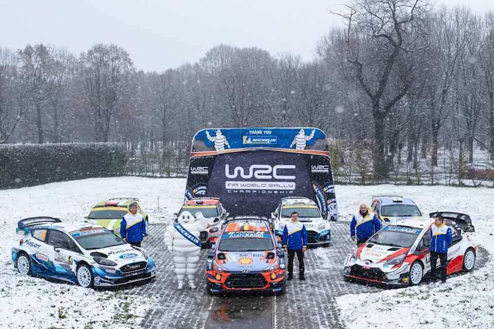 """Rally cars with Michelin<span class=""""copyright"""">Vincent Thuillier / Hyundai Motorsport </span>"""