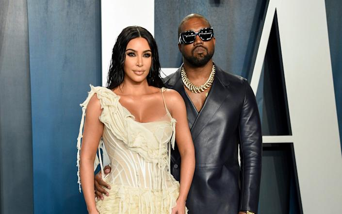 Twitter accounts belonging to Kim Kardashian and her husband, Kanye West, were said to have been targeted - Evan Agostini