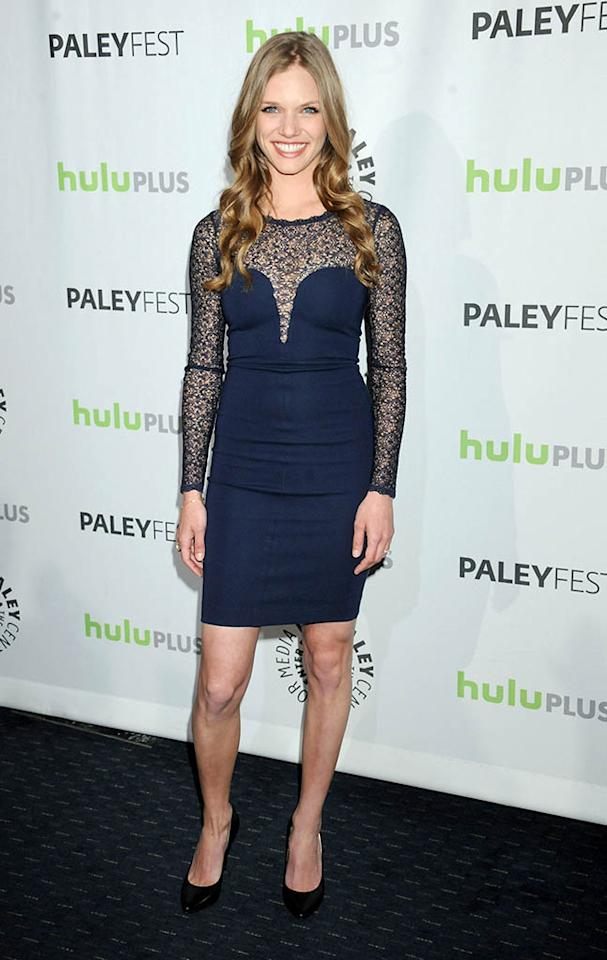 "Tracy Spiridakos attends the 30th annual PaleyFest featuring the cast of ""Revolution"" at the Saban Theatre on March 2, 2013 in Beverly Hills, California."