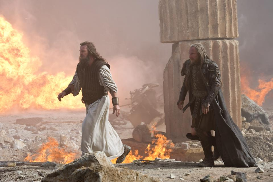 "Liam Neeson and Ralph Fiennes in Warner Bros. Pictures' <a href=""http://movies.yahoo.com/movie/wrath-of-the-titans/"" data-ylk=""slk:Wrath of the Titans"" class=""link rapid-noclick-resp"">Wrath of the Titans</a> - 2012"