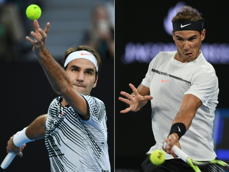 The greatest rivalry in tennis resumes at the final of the Miami Open when Roger Federer (L) and Rafael Nadal (R) meet at Crandon Park on Key Biscayne