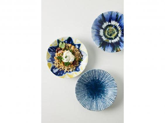 With smaller plates, you can embrace more decadent designs without overwhelming the table (Anthropologie)