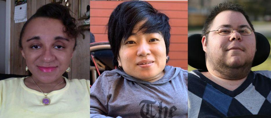 Vilissa Thompson (left) is a social worker, writer and activist; Mia Ives-Rublee is a disability and inclusion consultant; and Dominick Evans is alsoa disability consultant. (Photo: Photos courtesy of Vilissa Thompson, Mia Ives-Rublee, Dominick Evans)