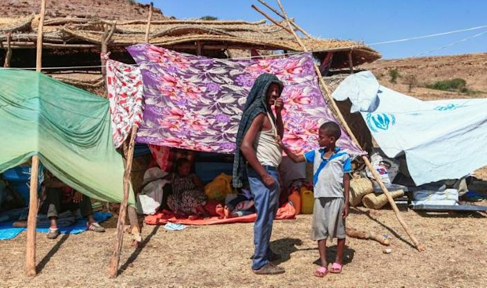 Refugees are traumatised after being separated from family members in the mad rush to escape air strikes, artillery barrages and massacres in Ethiopia