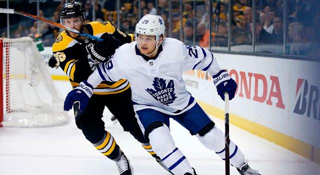 Given how well they did last year, it's going to be tough for the Leafs and Bruins to get much better this season. (AP Photo/Michael Dwyer)