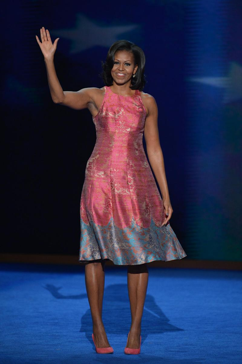 Michelle Obama at the Democratic Convention in 2012. (Getty Images)