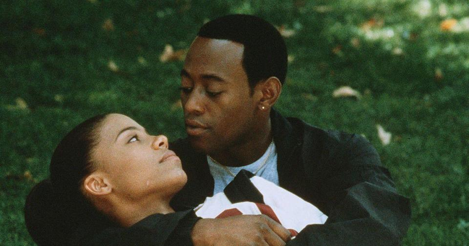 """<p>As kids, Monica (Sanaa Lathan) and Quincy (Omar Epps) bond over their shared love for basketball. As they grow older, their romantic connection and their careers grow in tandem. <em>Love and Basketball </em>is coming-of-age-story, sports movie, love story, and classic, all in one. </p><p><a class=""""link rapid-noclick-resp"""" href=""""https://www.amazon.com/Love-Basketball-Omar-Epps/dp/B0010T56CW?tag=syn-yahoo-20&ascsubtag=%5Bartid%7C10072.g.33383086%5Bsrc%7Cyahoo-us"""" rel=""""nofollow noopener"""" target=""""_blank"""" data-ylk=""""slk:Watch Now"""">Watch Now</a></p>"""
